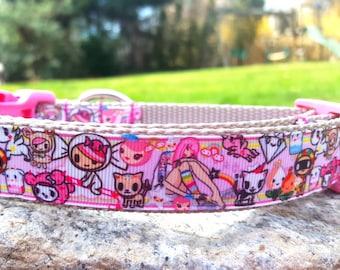 Cute Kawaii Style 1 Inch Width Dog Collar