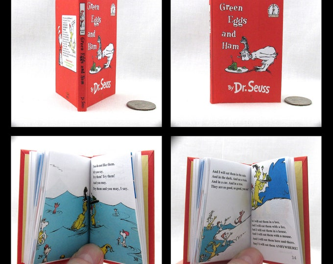GREEN EGGS And HAM Book in 1:3 Scale Readable Book 18 inch Doll American Girl Book Dr. Seuss free shipping Children's Nursery  18 inch Ag