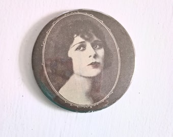 Anita Stewart Pocket Mirror --- Vintage 1920's Silent Film Star Beauty --- Art Deco Darling Bright Young Things Accessory Stocking Stuffer