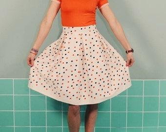 Daisy rock LOTTI Dotti POOL retro cream pleated skirt
