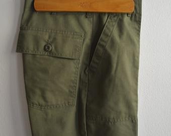 Vintage OG-507 Olive Green Military Utility Pants Size 29x31