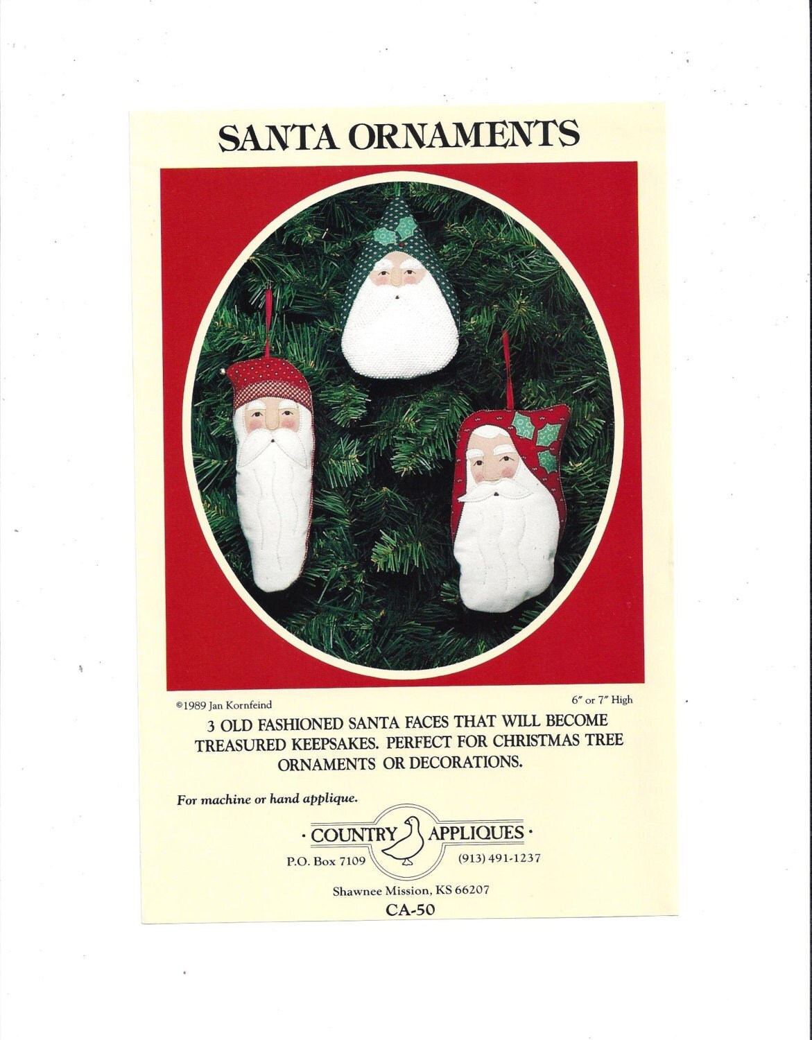 Santa face ornaments - Sold By Victorianwardrobe
