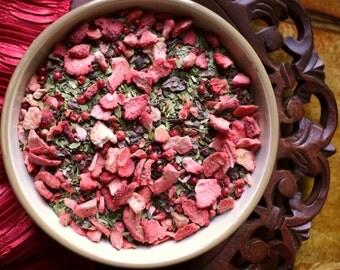 Chocolate Strawberry - Yerba Mate - Strawberry Tea - Valentine's Day Tea - Cocoa Nib Tea - Loose Leaf Tea - Tea Lovers Gift - Tea Gift - Tea