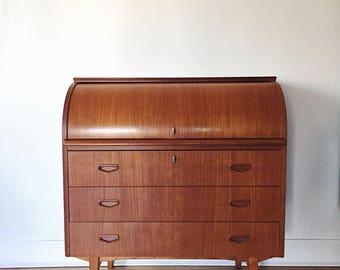 roll top desk etsy. Black Bedroom Furniture Sets. Home Design Ideas