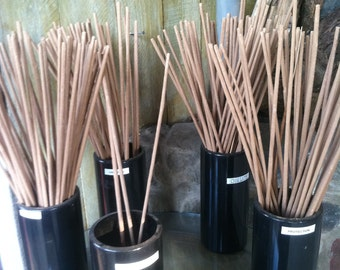 "INCENSE STICKS- Bug Repellent - Lemon- Tee Tree - Citronella - Lemongrass - Mosquito repellent - Outdoor patio - Incense - 19"" or 11"" Stick"