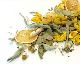 LEMON POTPOURRI - Lemon Potpourri - Lemon Scented - Vanilla - Lemon Verbena - Lemon Peels - dried flowers - herbal potpourri  - cake