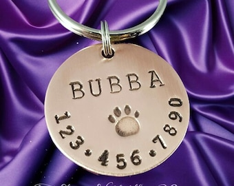 Custom Pet Tag - Personalized Dog Tag - Hand stamped