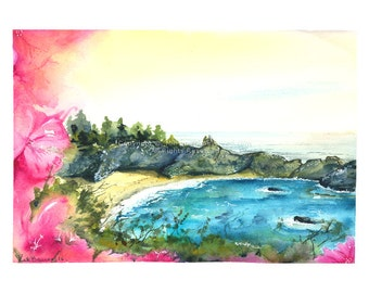 Paradise - Print of watercolor painting