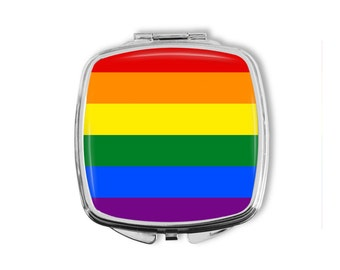 LGBTQ, Pocket Mirror, Purse Mirror, LGBT Pride, Gay, Lesbian, Transgender, Equality, Equal Rights, Gay Marriage, Love Wins, Ally, Gay Pride
