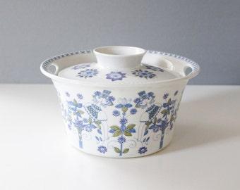 Figgjo Flint Turi Lotte Casserole Handpainted Silkscreen Norway Ceramic