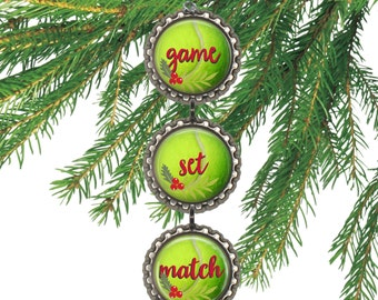 Tennis ornament tennis team gift Christmas tennis decoration tennis party favors tennis gift for tennis player.