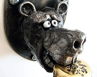 Bear Bottle Opener (Steel Wall mounted Bottle Opener)