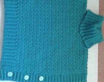 Crochet child poncho, crochet child pullover, child poncho, child pullover,