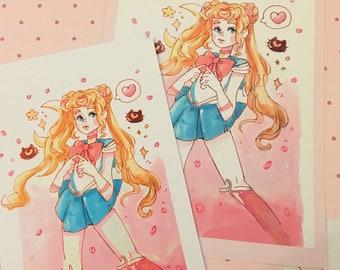 Sakura Sailor Moon Print (Traditional)