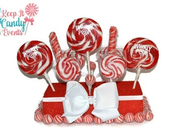 Red Wedding Centerpiece, Red Candy Centerpiece, Red Lollipop Centerpiece,  Candy Buffet, Valentines Day Wedding Decoration, Valentines candy