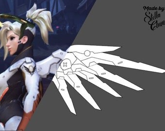 Mercy Classic Skin Wings Pattern for Cosplay