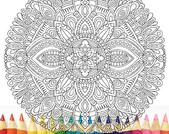 HELLO ANGEL - Musings Mandala Colouring Page