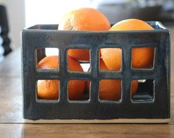 Ceramic fruit basket, handmade