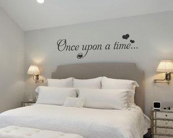 Master Bedroom Wall Decor - Custom - Bedroom Wall Decor - Once Upon A Time Wall Decal