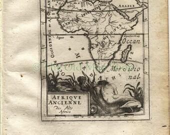 "1719 Manesson Mallet ""Afrique Ancienne"" Ancient Africa Antique Map, Print"