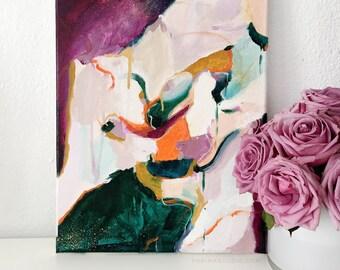 Della Abstract Painting 11x14 original acrylic canvas