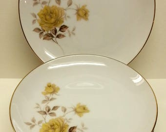Style House China Bread Plates (7), Yellow Rose Valerie Pattern