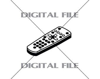 tv remote clipart black and white. tv remote control vector art vinyl decal t-shirt digital cutting files ,svg, tv clipart black and white