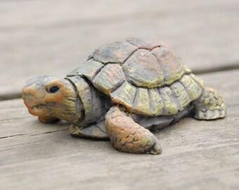 Turtle Tortoise Resin Figurine Statue - Vintage Turtle - Vintage Tortoise - Realistic Tortoise - Realistic Turtle