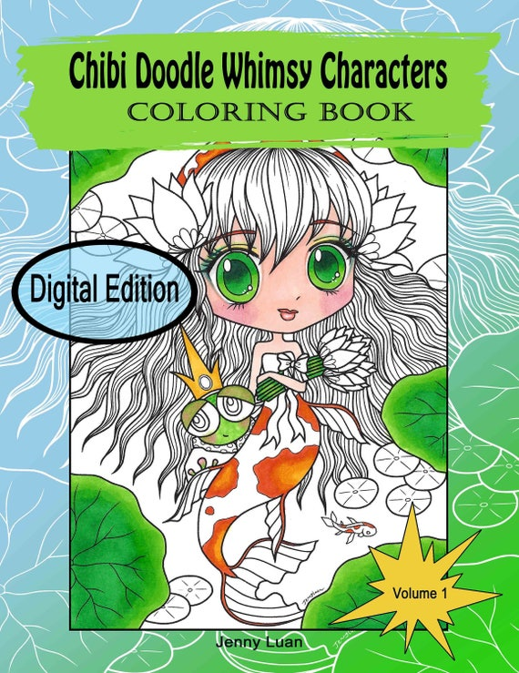 Digital Edition Chibi Doodle Whimsy Characters Coloring Book
