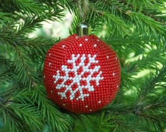 Christmas gift/for/men handmade Christmas ornament white snowflake ornaments for kids winter holiday ornament first Christmas decoration red