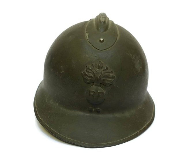 French Vintage Adrian Helmet. WWII French Military Helmet. Second World War Memorabilia. French Militaria.