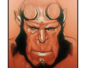 Hellboy comic wall art print 11x14 Ron Perlman - Free shipping to US