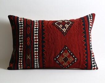 moroccan pillow, tribal pillow, cushion, wool pillow, boho pillow, kilim pillow cover, home decor, kilim, kilim pillows, rug pillow