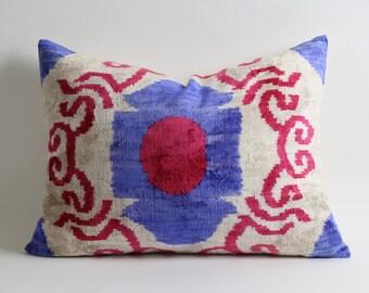 ikat pillows, ikat velvet pillow, velvet ikat pillow, silk, handmade, ikat pillow cover, velvet cushion, pillows, toss pillow, velvet pillow