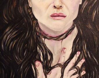 Rapunzel - Horror/Macabre Fairytale Painting Print