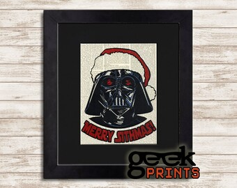 Merry Sithmas Vintage Book Art Print