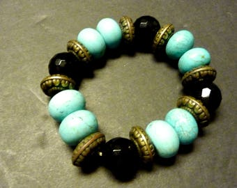 40% OFF -Stretch Bracelet- Large Unique Beads - Bohemian Feel