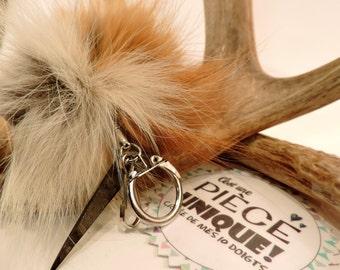 Recycled Fur Keychain