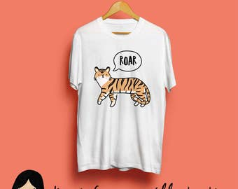 Tiger Roar Childrens T-shirt - Cute Tiger T-shirt, Adorable Tiger, Animal T-shirt, Adorable T-shirt, Gift For Her, Gift For Him, Kids Tee