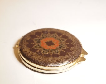 Florentine Italian Brown Leather Compact