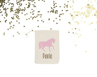 Horse {set of 10} Personalized Party Favor Bags