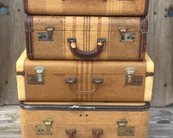 Vintage suitcases luggage sets – Etsy