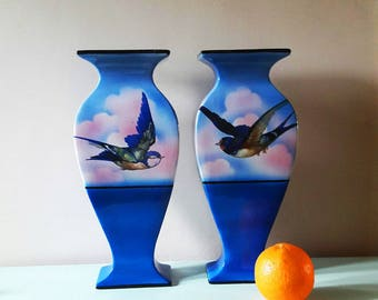 A Pair of Stunning Large Art Deco Ceramic Vases