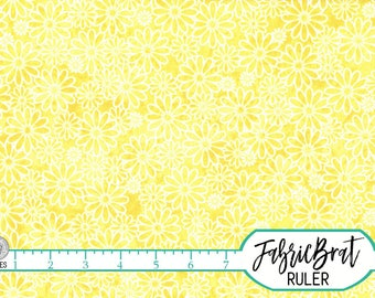 YELLOW DAISY FLORAL Fabric by the Yard, Fat Quarter Yellow Blender Flower Fabric Apparel Fabric Quilting Fabric 100% Cotton Fabric w8-19