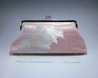 peony kimono bag/ Pink Vintage Kimono bag /Cross body/ Purse/ hand made/20