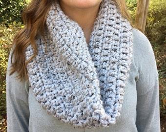 Crochet Cowl // Gray Marble