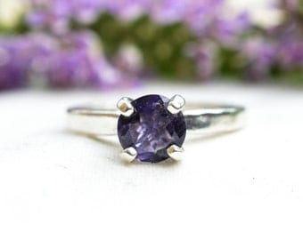 Natural Iolite Ring with 925 Sterling Silver *Free Worldwide Shipping*