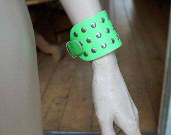 Vintage fluor studded cuff bracelet