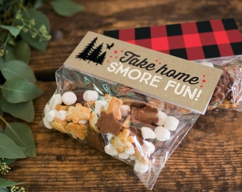 Printable Favor Tags - Great Outdoors Birthday - S'more Tags
