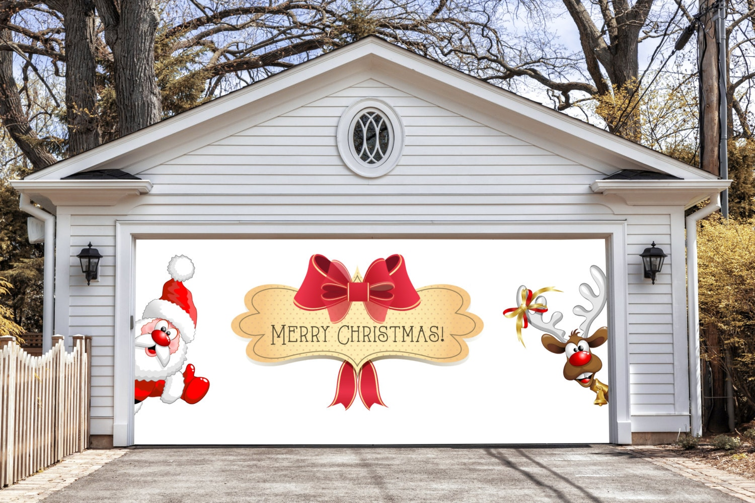 Merry Christmas Garage Door Covers 3d Banners By Decalhouse